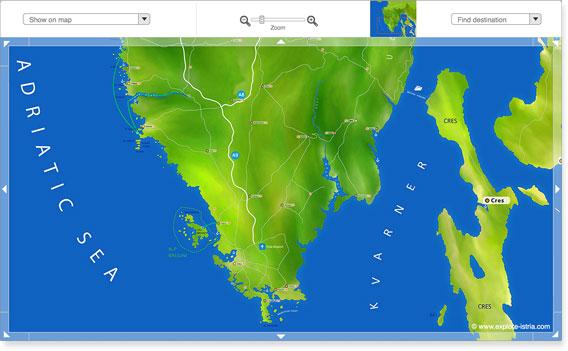 Mappa di Istria